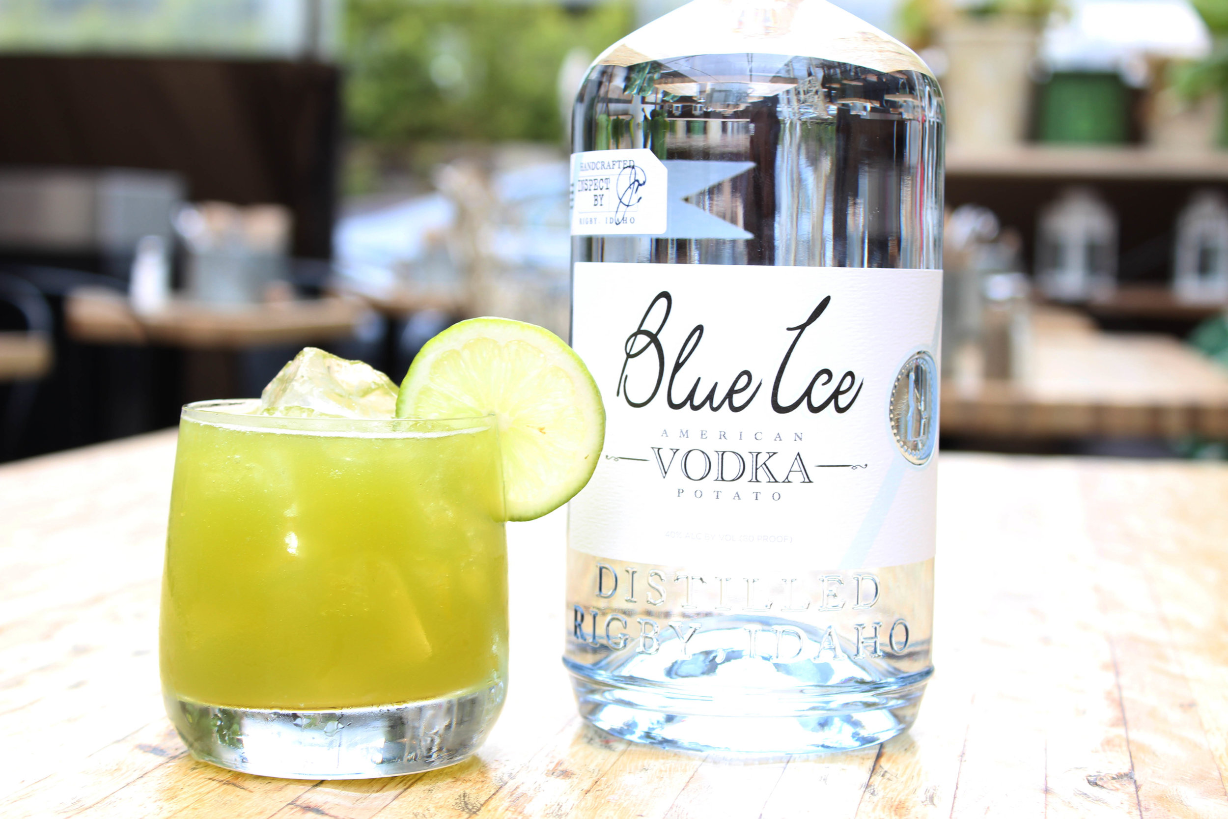 Namaste - -1oz Lime-1/2 Agave Nectar- ½oz of Rum Haven Coconut Liqueur-1oz Celery Juice- Pinch of mint-A few drops of Habanero Tincture-1.5oz Blue Ice Vodka-Himalayan Pink Salt
