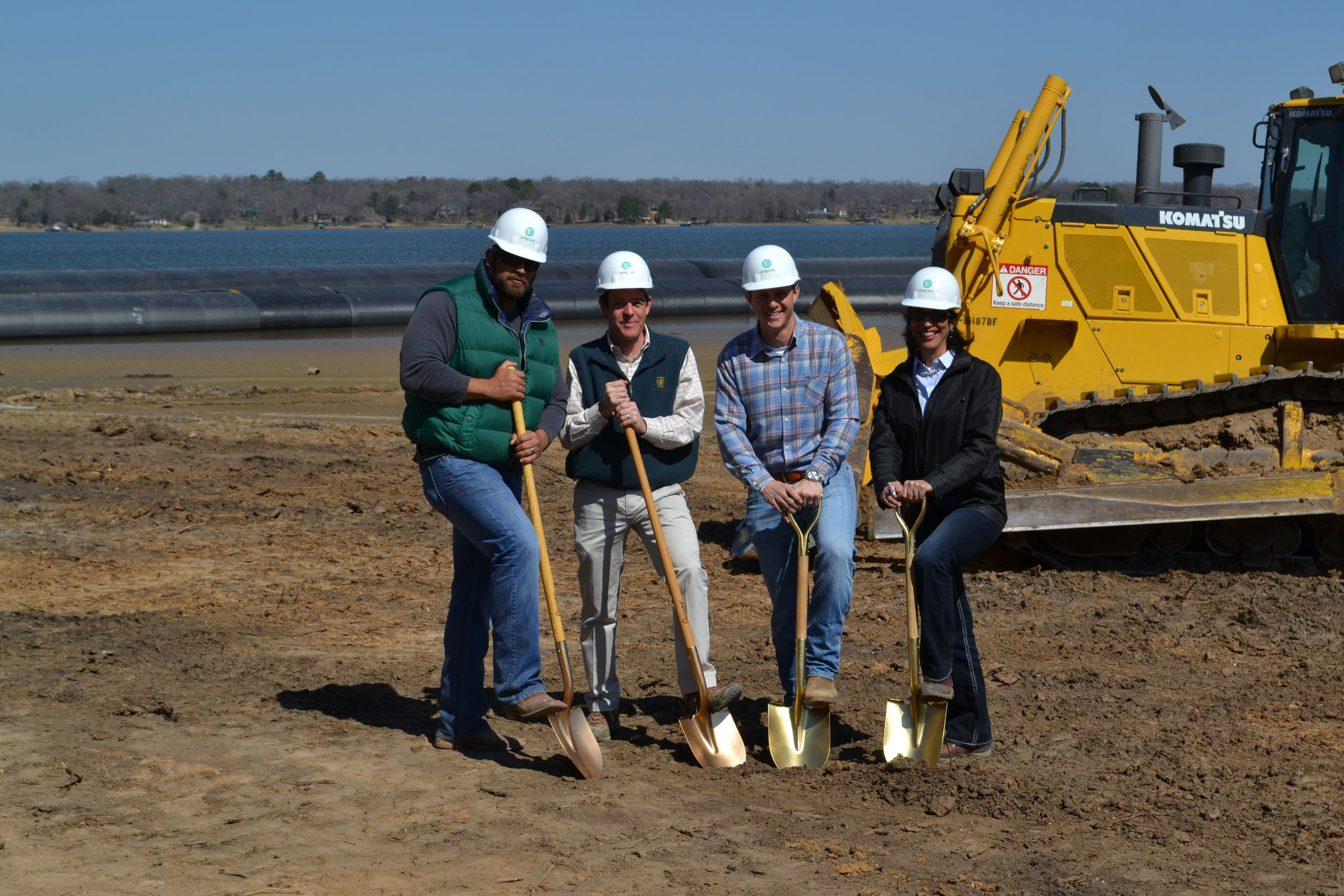 """Long Cove, a luxury, private, second-home residential community on Cedar Creek Lake called on Dala to provide PR support for a successful sales and marketing program. Check out the Long Cove team in action for its """"Big Dig,"""" a milestone event the Dala team created."""