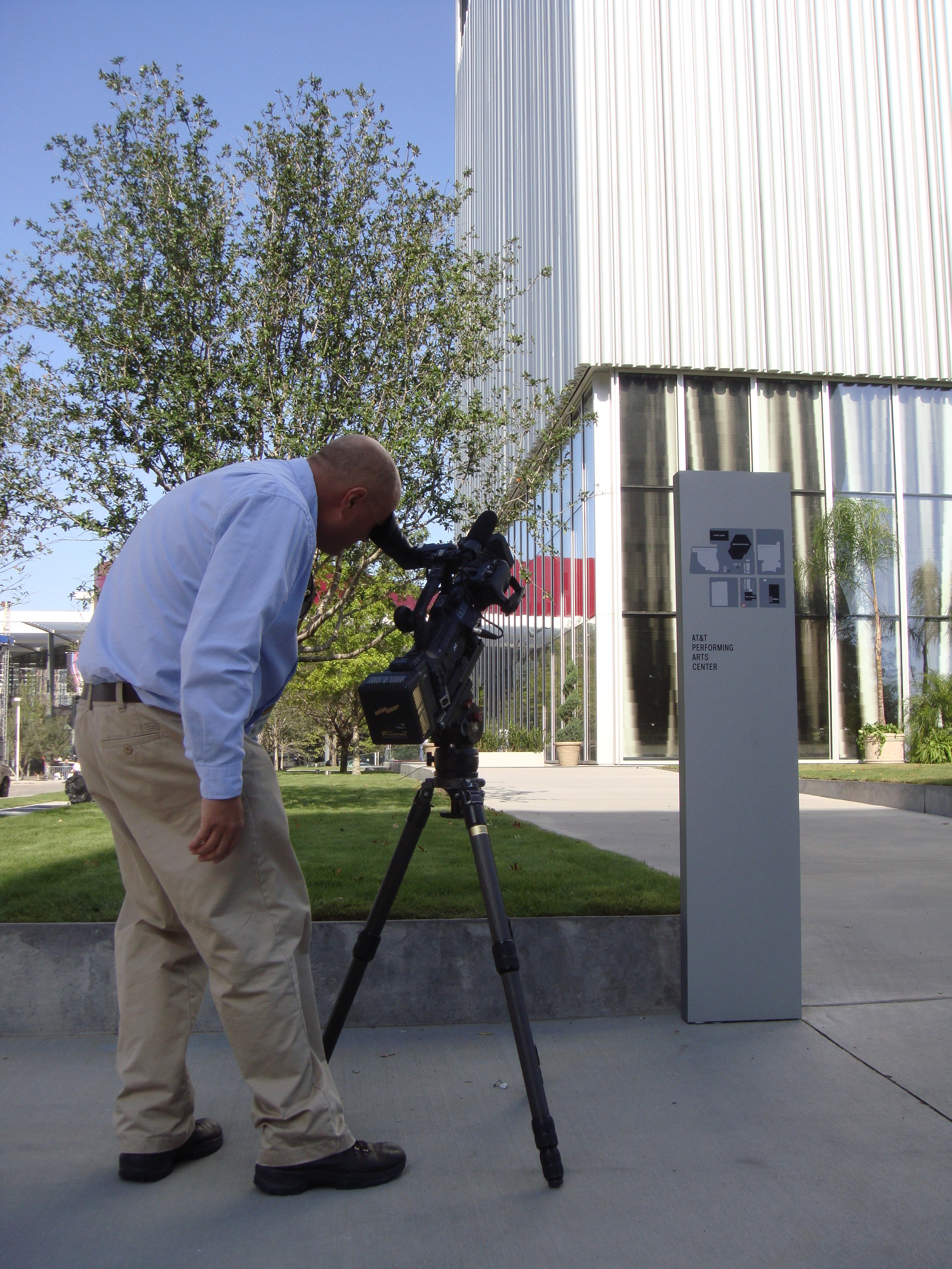 Capturing b-roll footage of The AT&T Performing Arts Center Dee and Charles Wyly Theatre for the construction industry award, AGC Build America Award. Dala's team secured this coveted award win for its client McCarthy Building Cos.