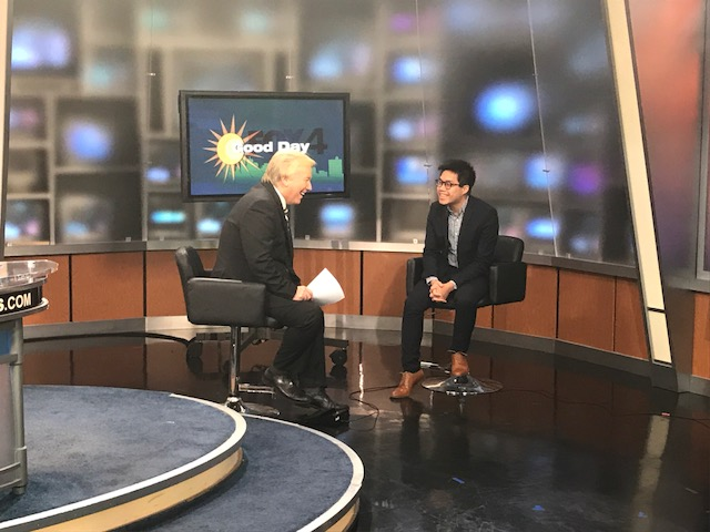 AECOM's Steven Duong sits in the FOX 4 studio for a live interview on Good Day