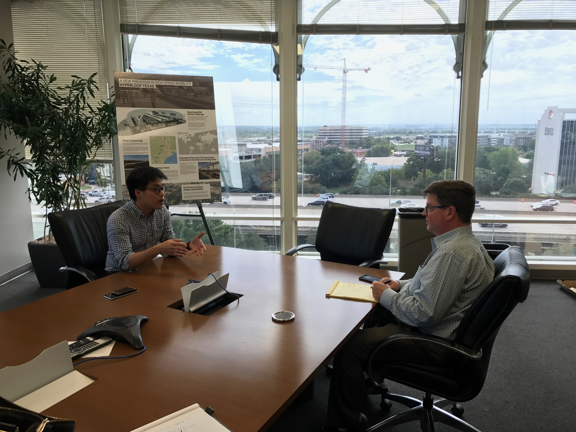 AECOM's Steven Duong sits with Fort Worth Star Telegram Reporter Gordon Dickson to explain the Hyperloop technology