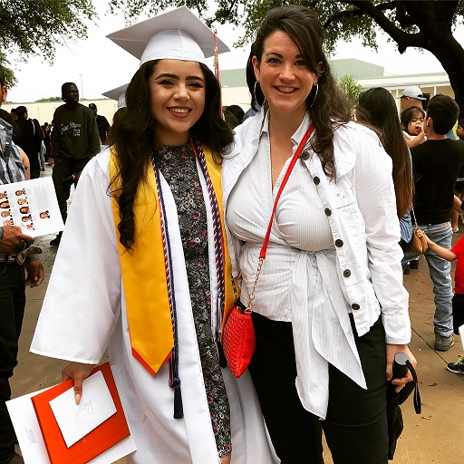 """Dala President Leah Williams (right) attends the high school graduation of her """"Little Sis"""" Yardley"""