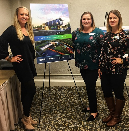 Dala's Krystal Morris, above in blue, attends Dallas Pets Alive! inaugural Town Hall event
