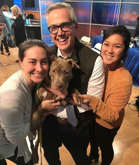 Jenny Lyons, producer at WFAA, David Schechter and Tiffany Liou, reporter with Bonesy. Photo via  Instagram .