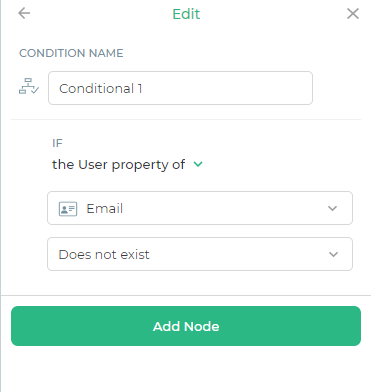 Conditional Node for Email Capture