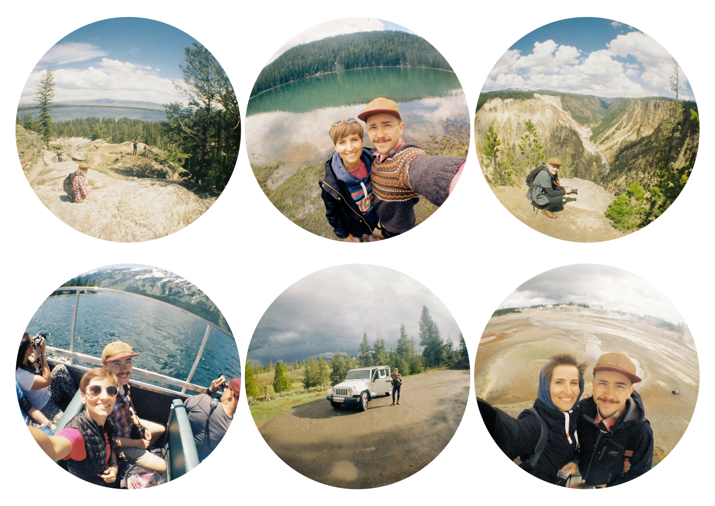 The Yellowstone from the fish-eye's perspective; photos by   Zuzi
