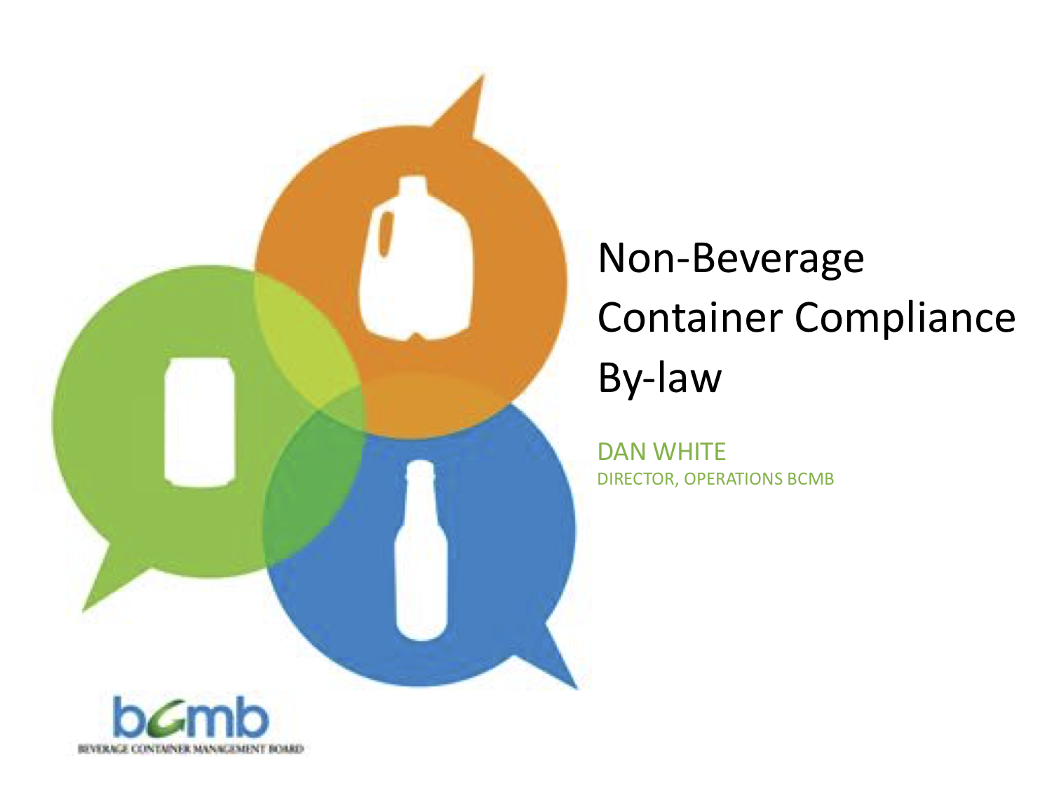 Dan White - Non-Beverage Container Compliance By-law