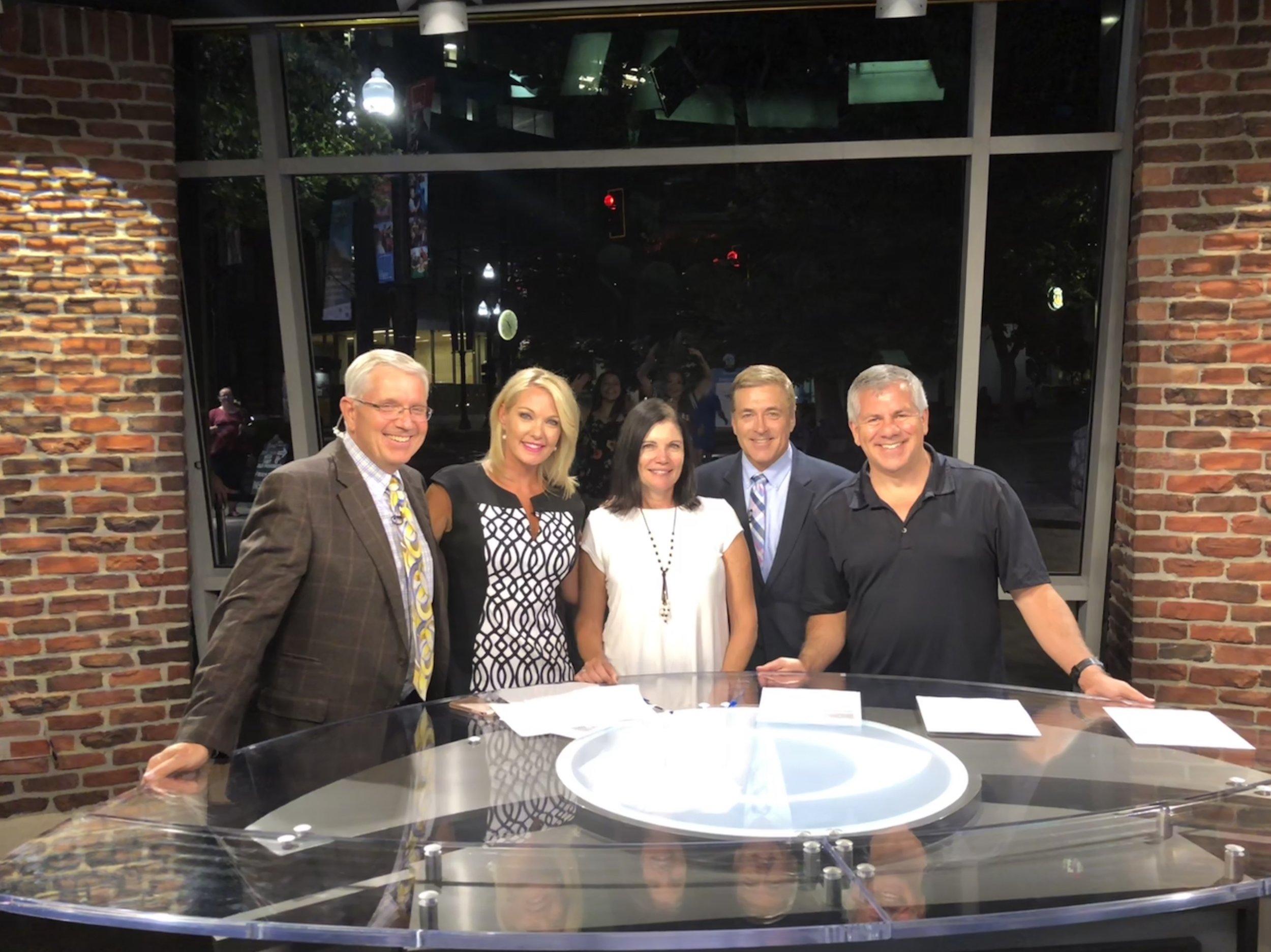 With anchors Shauna Lake, Mark Koelbel and Sterling Poulson at CBS affiliate KUTV