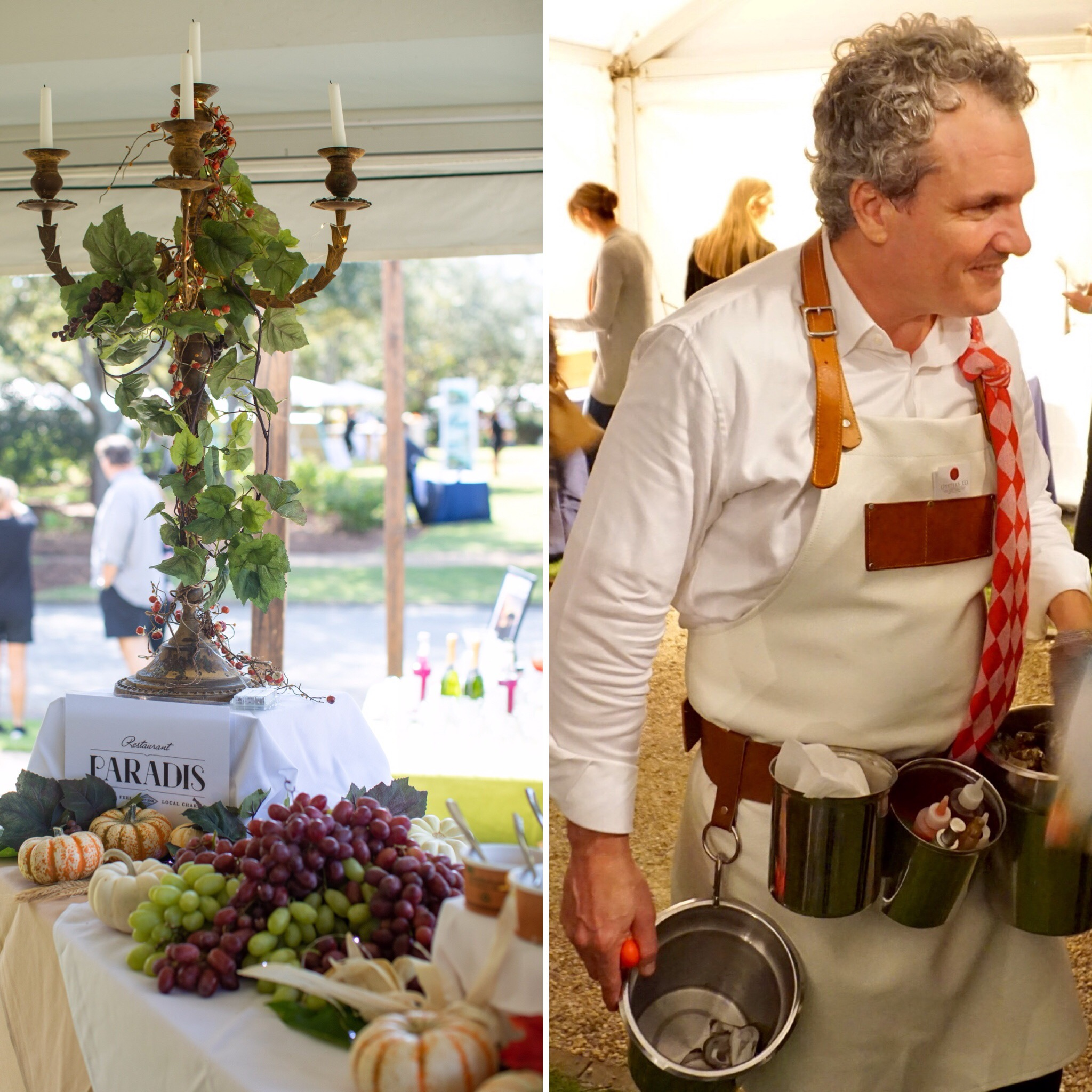 Paradis served up a harvest stew and Oysters XO shucked up oysters in the VIP Tent. (Left photo courtesy of STM Photography)