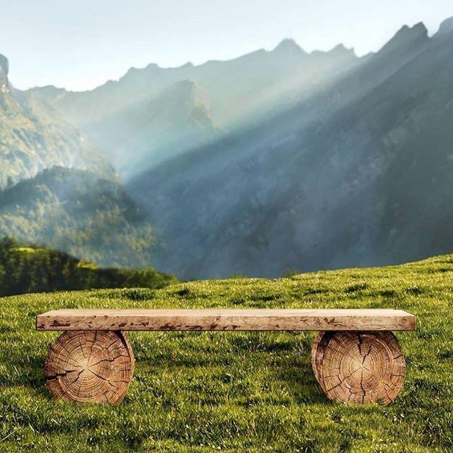 Qui rêverait d'une après midi contemplative devant nos montagnes suisses 🏔? (Photo @appenzeller_kaese 🙏)