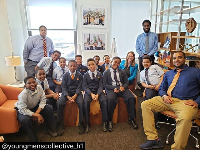 "Such a pleasure meeting with the ""Young Men's Collective"" of Success Academy Harlem 1. I enjoyed our thoughtful conversation on success, failure, sports, and middle school — and was excited to hear that these young role models will all be continuing their educational journey with Success Academy in 5th grade!  #Repost @youngmenscollective_h1 Thank you @evamoskowitz for having us visit! The conversation was insightful and the tour of @successacademy was remarkable!"