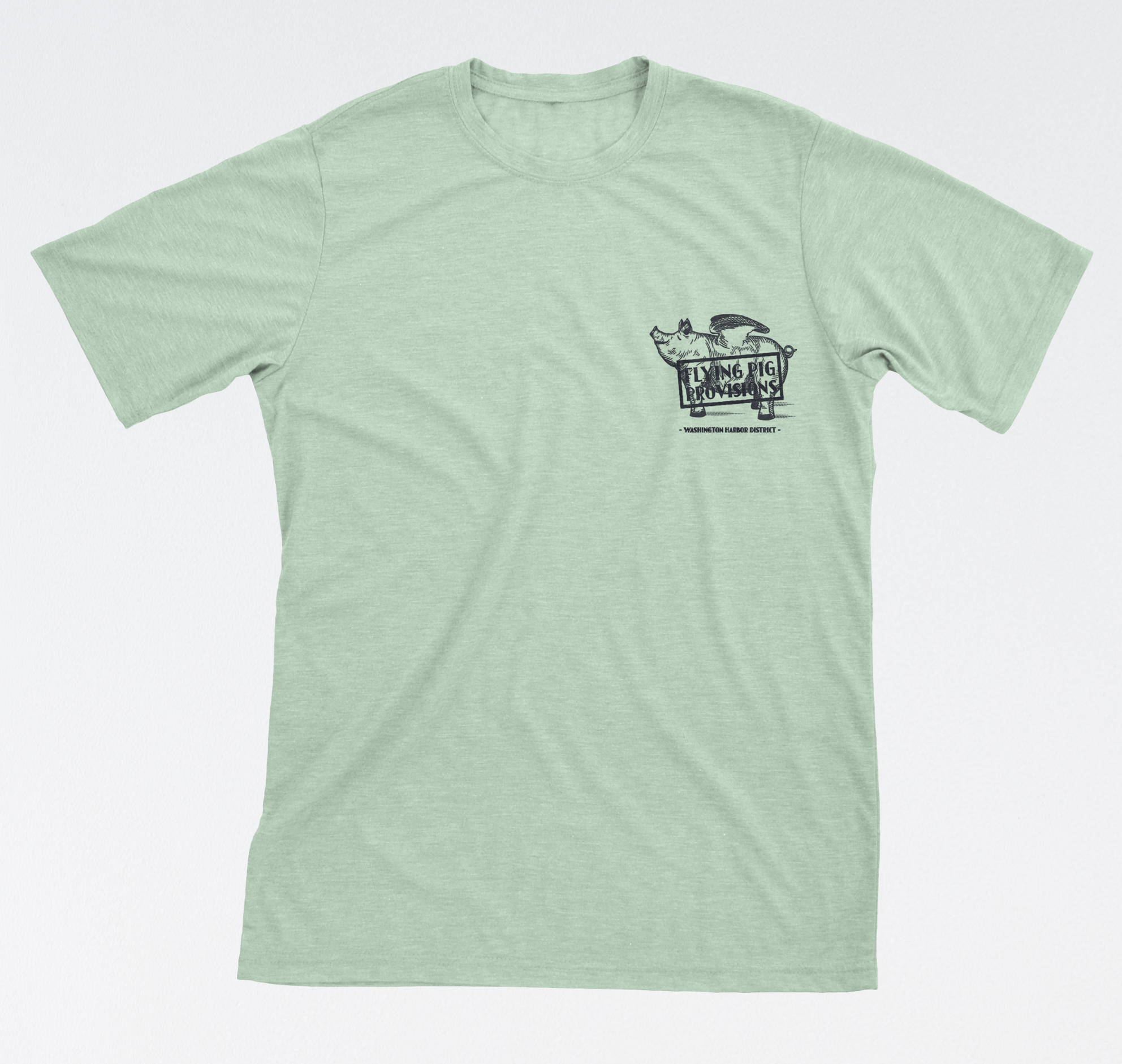 $19.95 | Flying Pig Provision Logo'd T-Shirt. Exclusively at Flying Pig Provisions (duh). Super comfy. Available Online Now!  Click here.