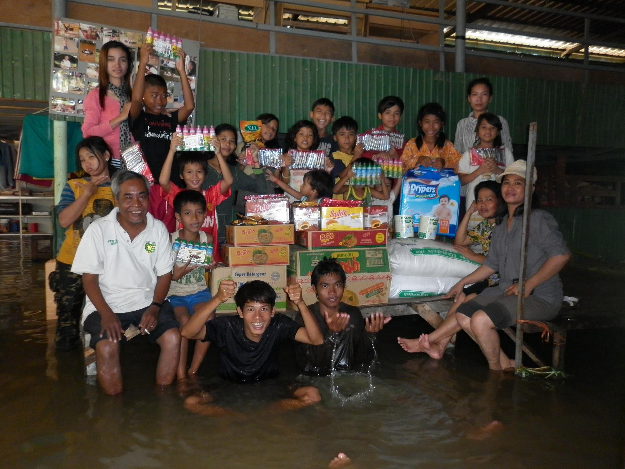 Providing Food For A Flooded Orphanage