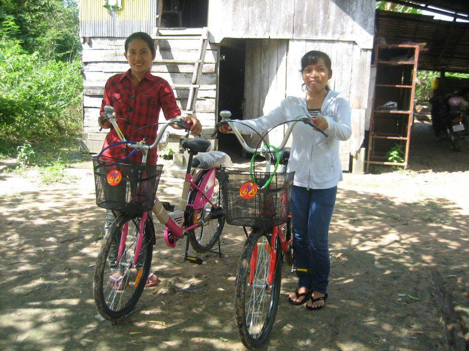 New Bikes For Students In Siem Reap