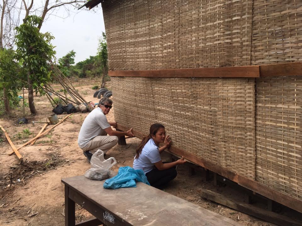 Adding New Walls To School In Siem Reap