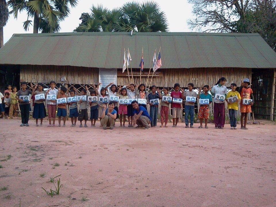 Solar Lights For Students In Samrong Village