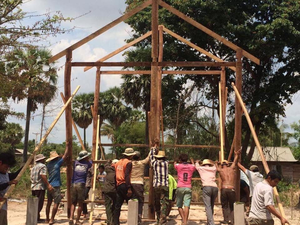 Framing A Home For A Rural Family