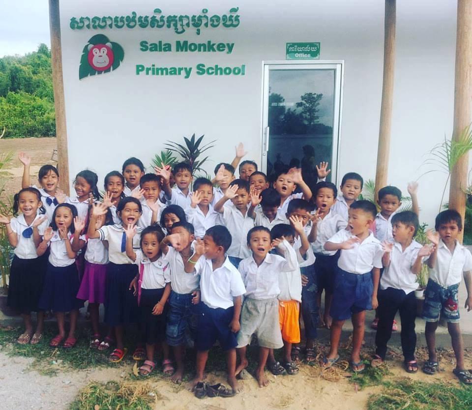 Sala Monkey School, Kep