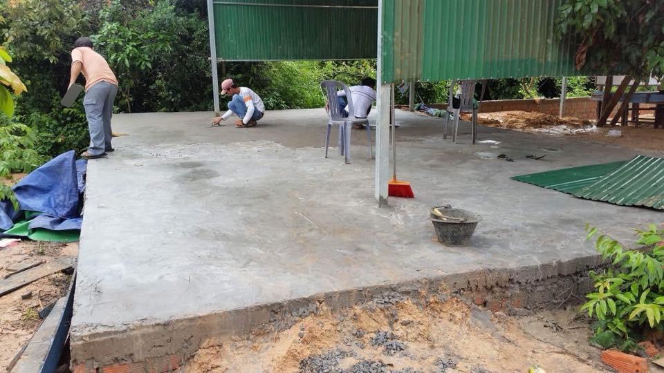New Bridges school with a concrete floor