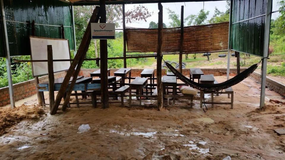 New Bridges School with a dirt floor