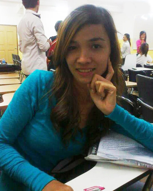 2010 in her first year of college
