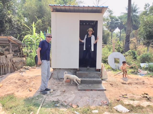 Building new bathrooms in a Siem Reap village