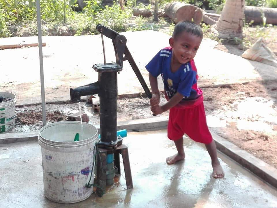 Providing wells for a rural village