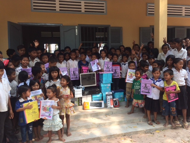 School in Samrong with new school supplies