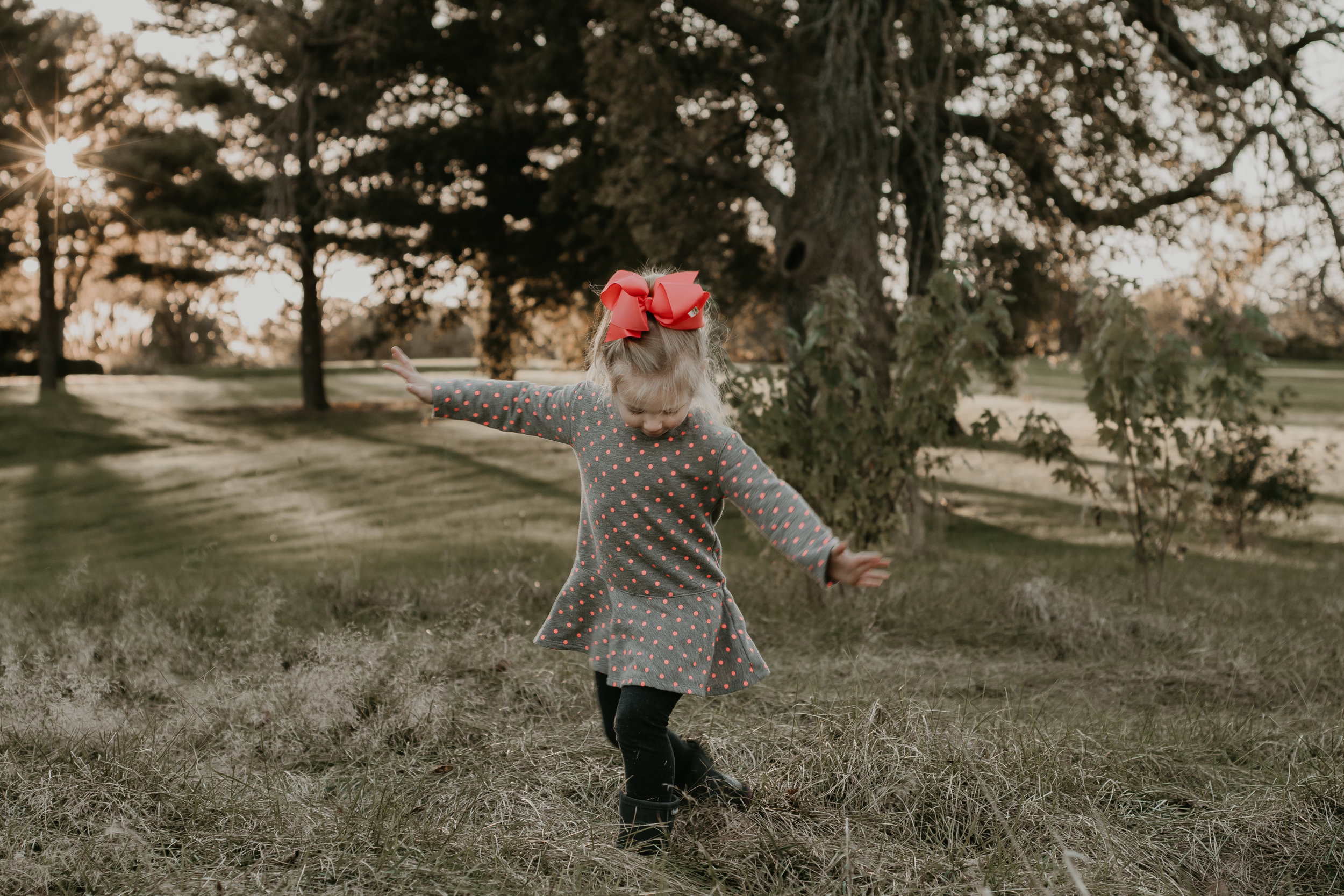 Little girls love to twirl.