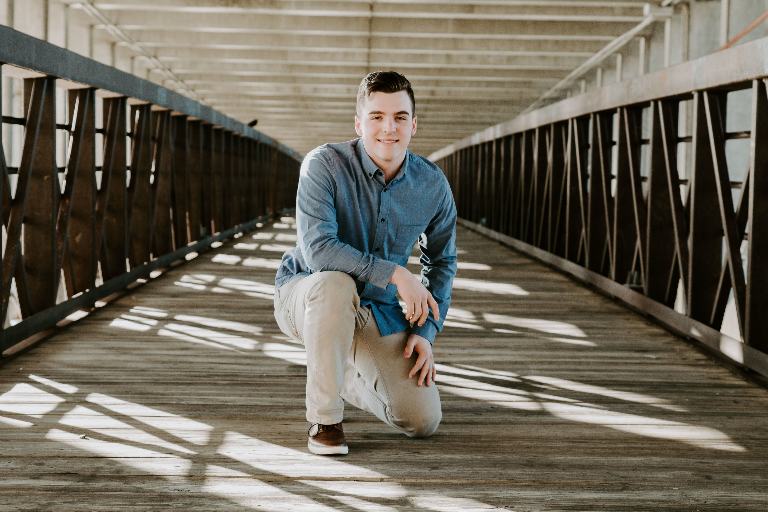 This is Austin, the oldest son and also graduating this year. Of course we tossed in a couple senior shots. This covered bridge was a pretty cool spot.