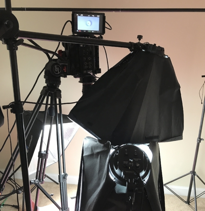 Add in some cheap soft boxes, and we had the look we were after! -
