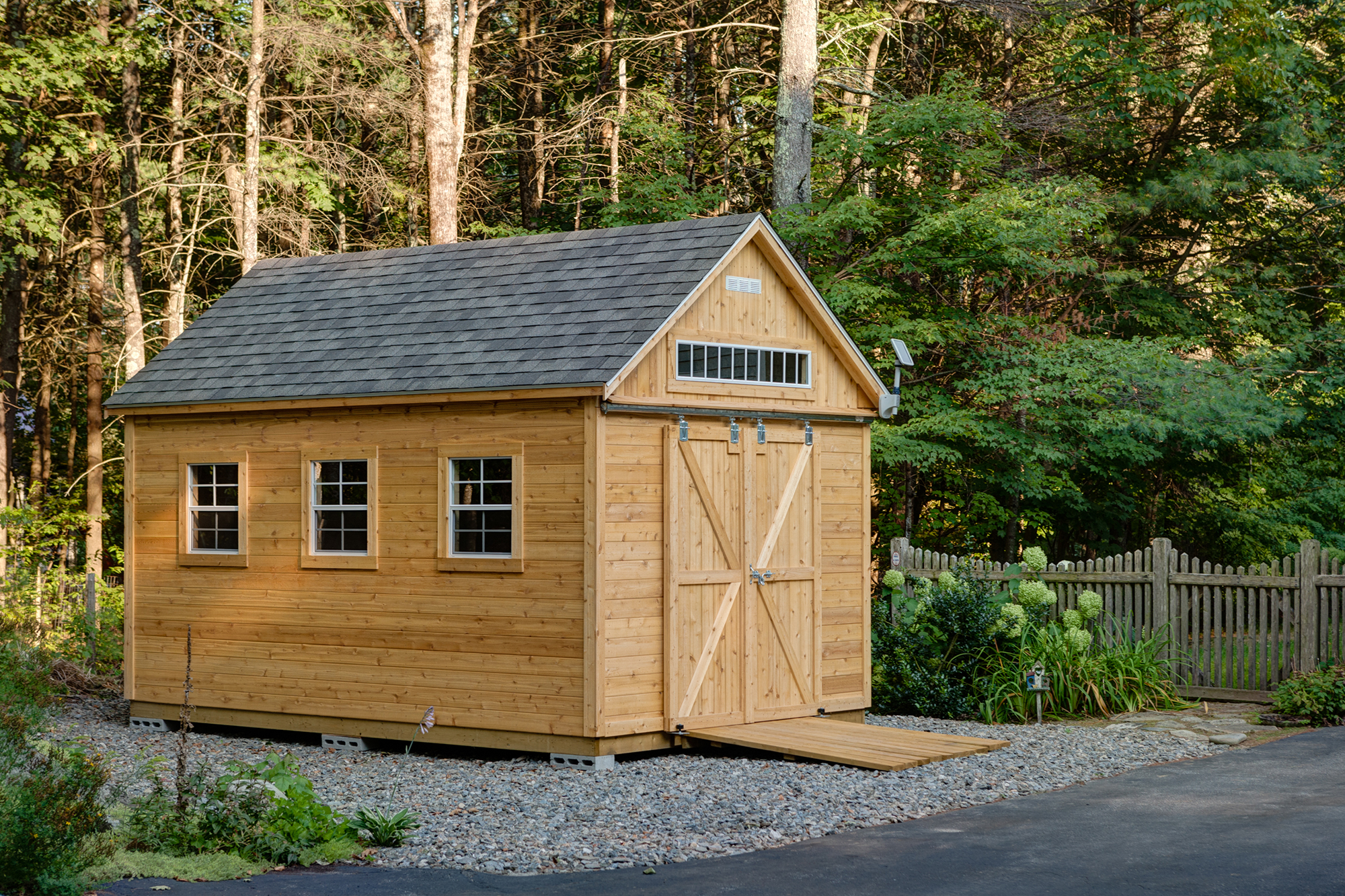 The Cohasset - Post Woodworking's most popular shed design.