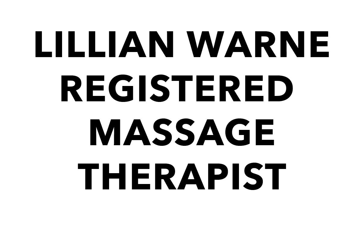 LILLIAN WARNE REGISTERED MASSAGE THERAPIST