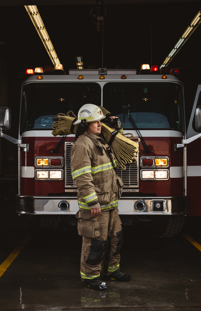 Firefighter Portrait Alberta