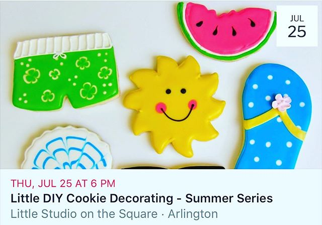 Tired of the kids yet?? You know you need a break ;) $24 https://www.littlesots.com/events/littlediycookiedecoratingjuly