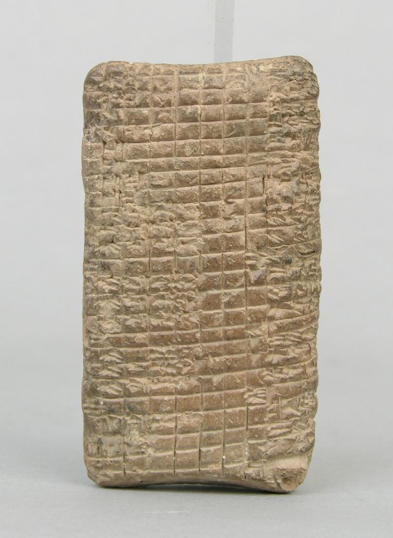 Cuneiform ledger circa 1800 B.C.