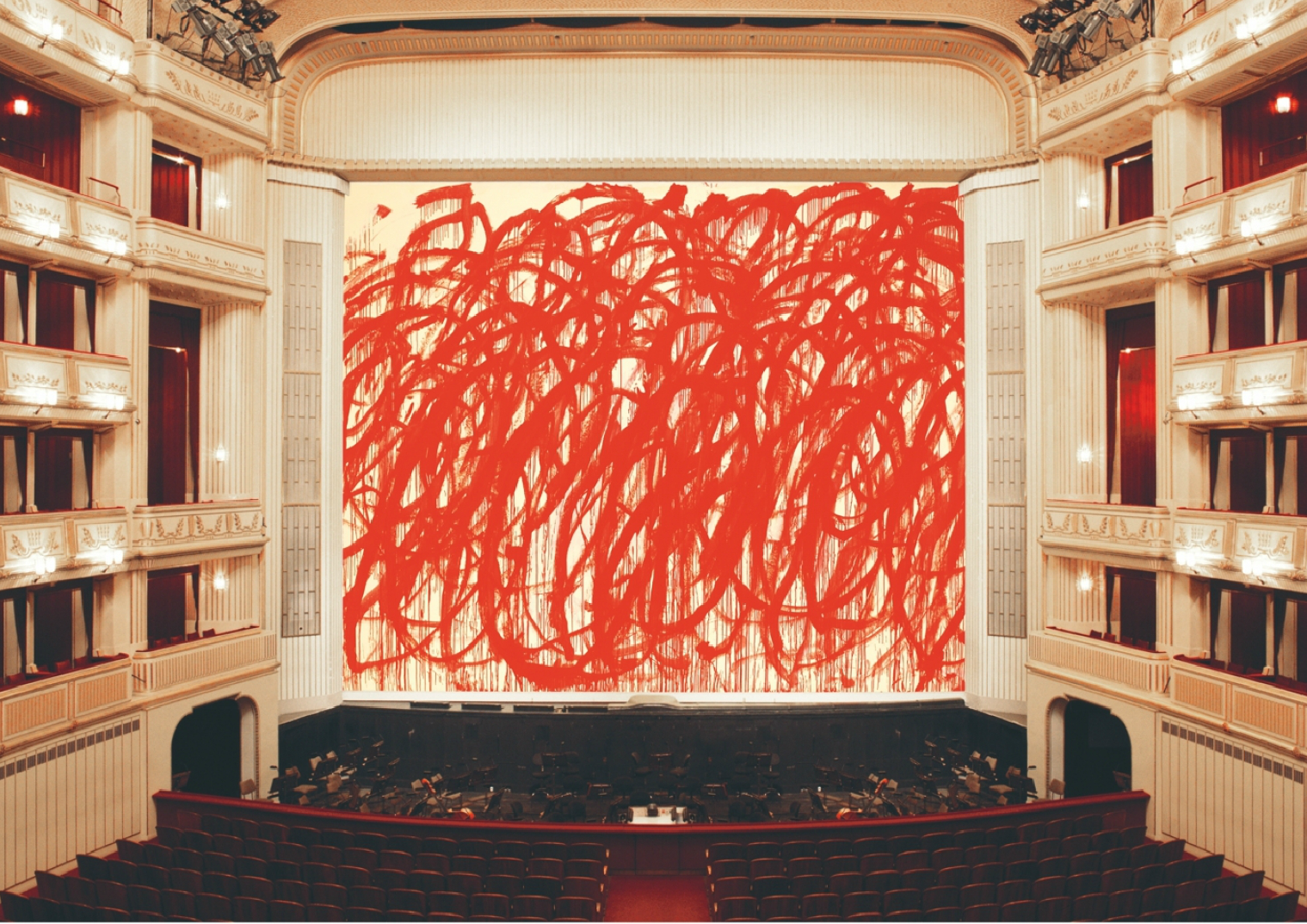 Safety Curtain  | Cy Twombly (2010/2011) Location: Vienna State Opera