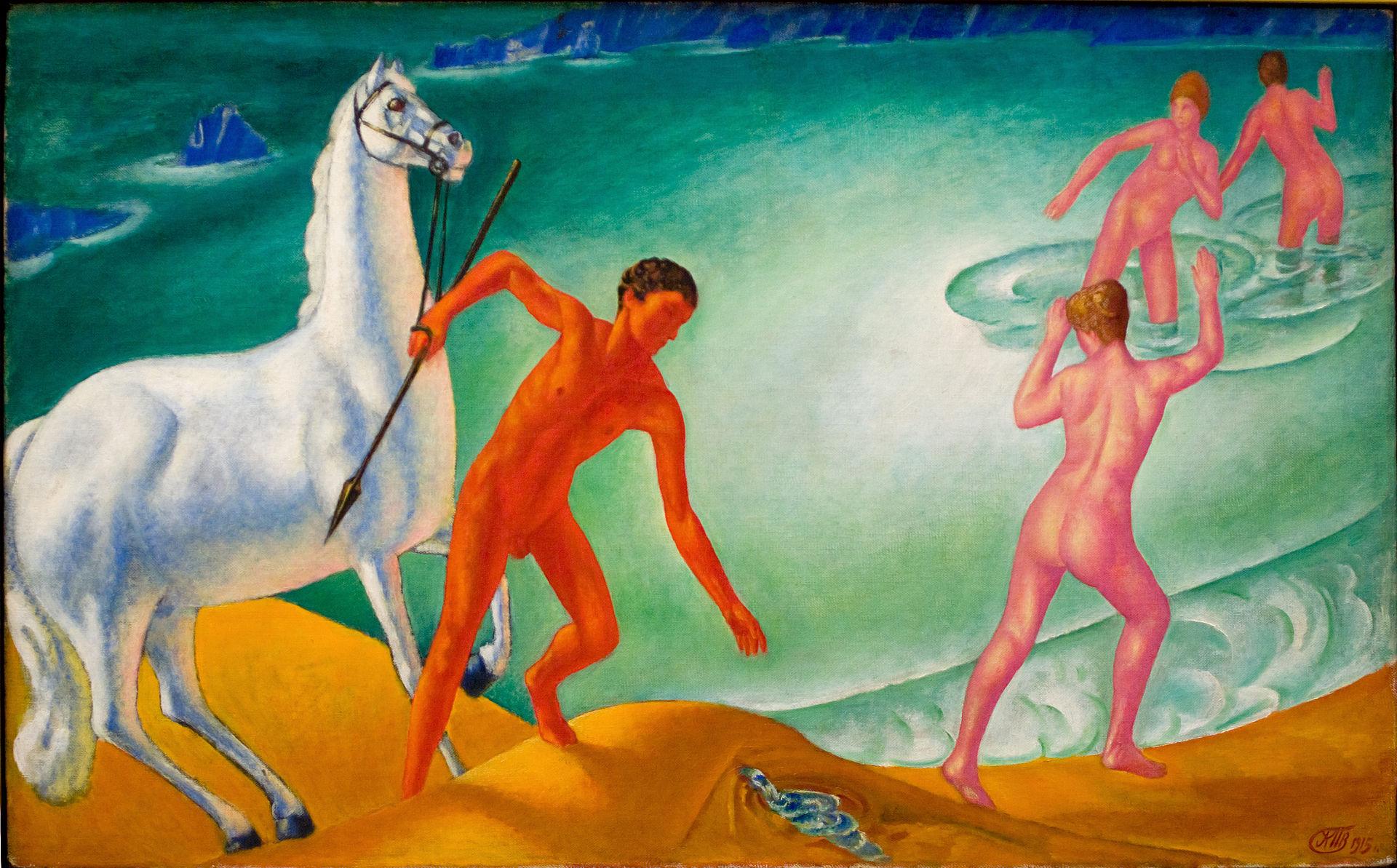 Thirsty Warrior  | Kuzma Petrov-Vodkin (1915)