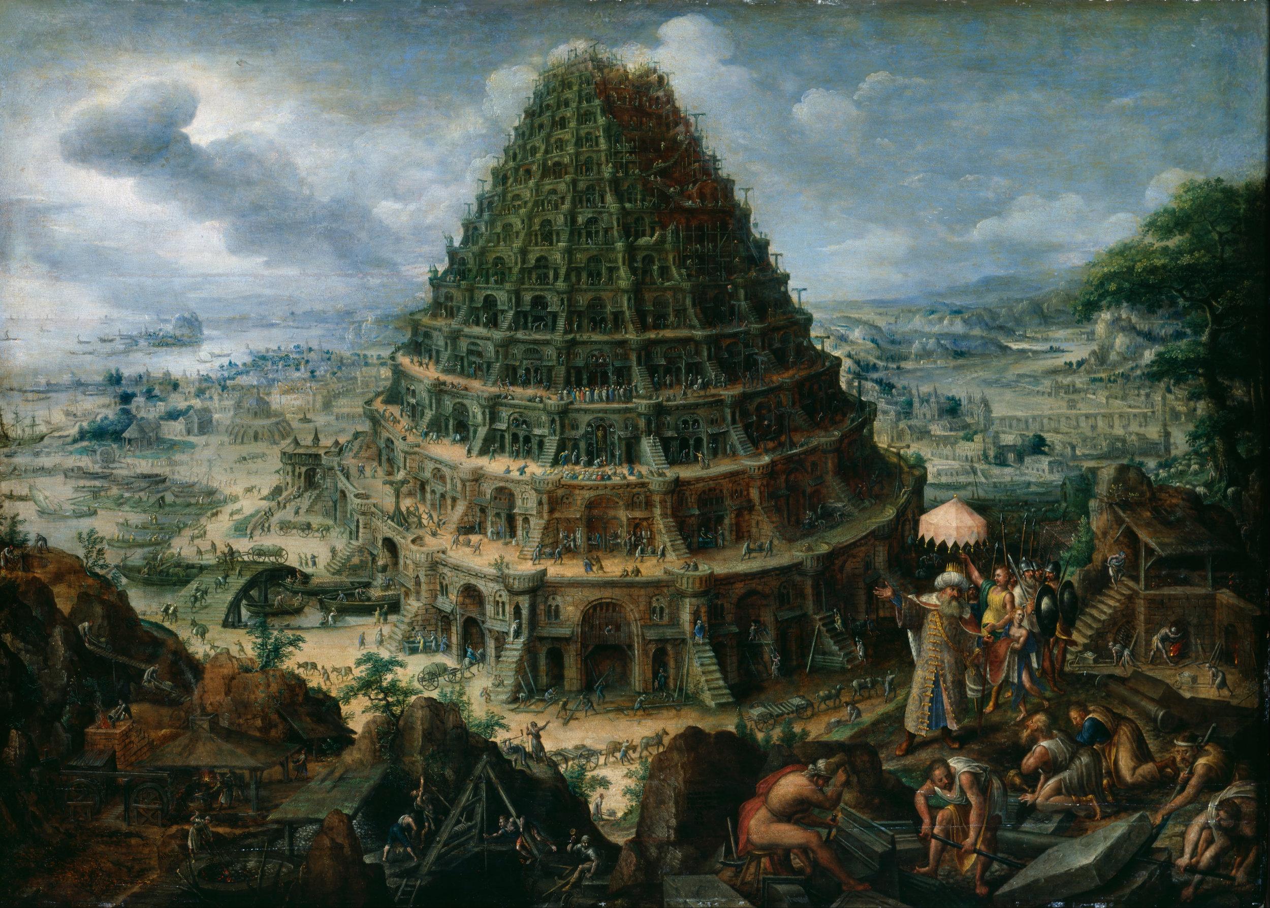 The Tower of Babel  | Marten van Valckenborch the Elder (1595)