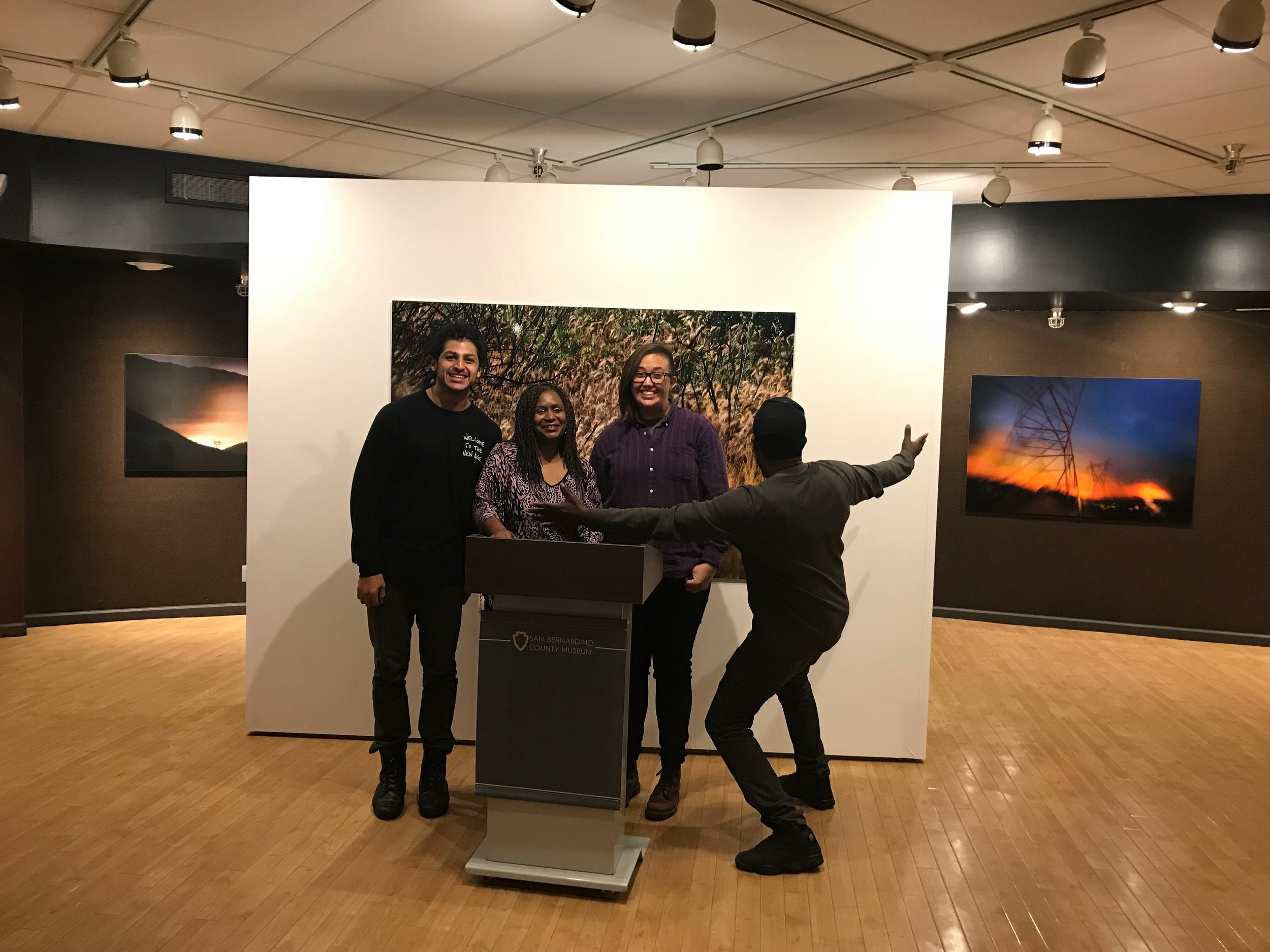 Life in the Cracks at the San Bernardino County Museum 3/10/18 with poets T.R.U.E, Kacee Kemiah, and Nato.