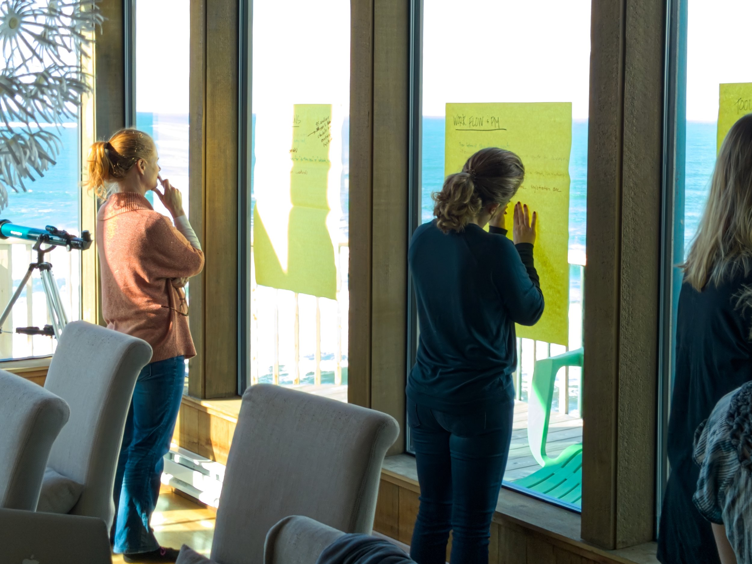 KE team members hard at work developing strategic and creative solutions for clients.