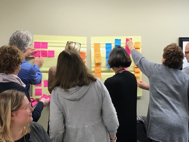 Clients getting out of their seats and hands-on involved in the planning process in a recent meeting. We love to see this kind of engagement from clients!