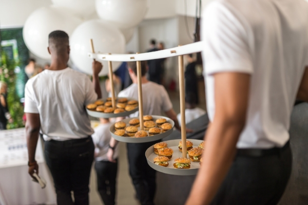 Our friends at Pinch Food Design came up with this memorable way to serve appetizers. Photo credit: Daniel Krieger for The New York Times