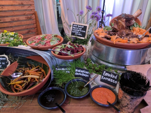 Absolutely stunning buffet from our friends at  Culinary Eye Catering .