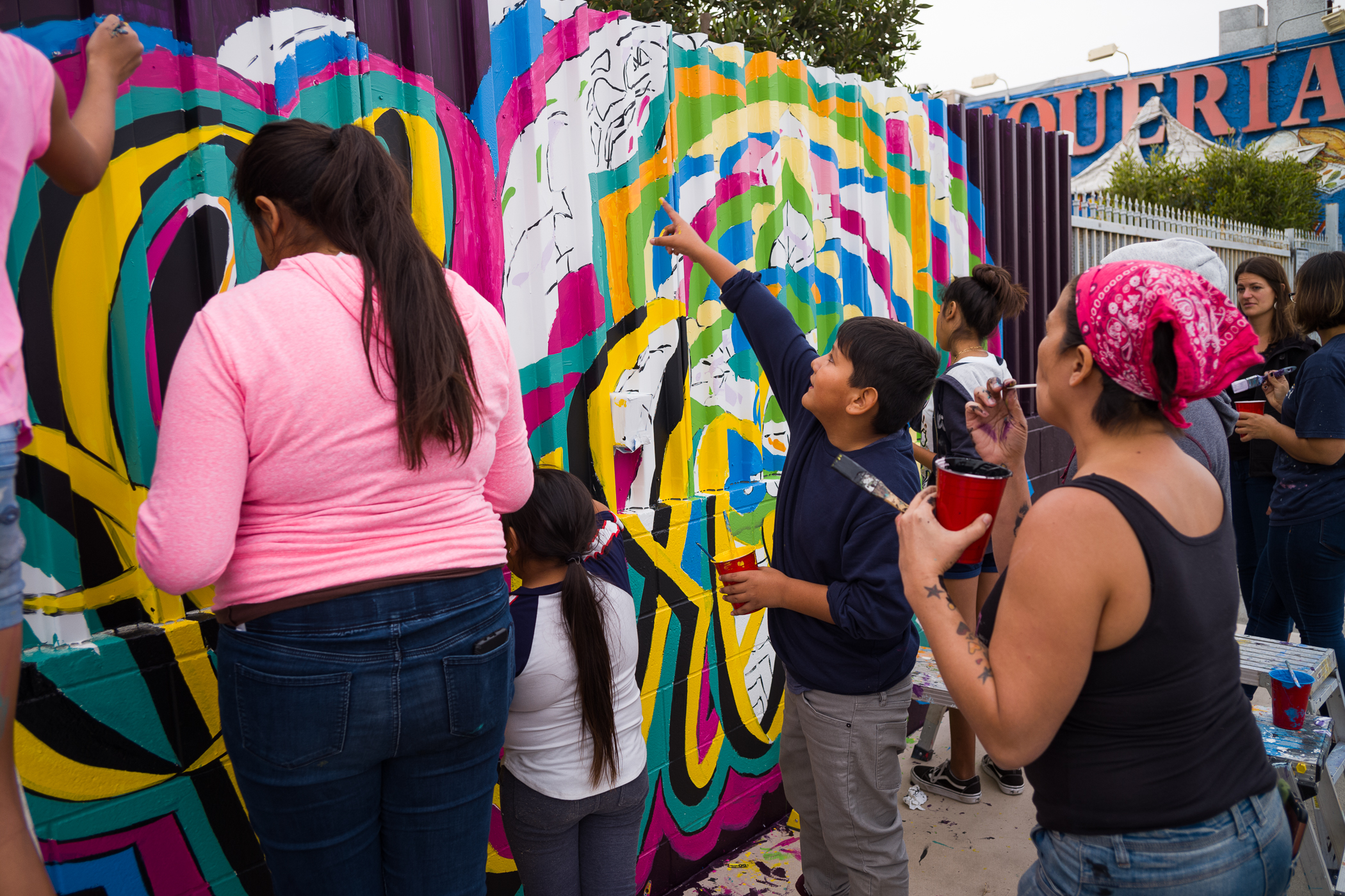 Arts Bridging The Gap, Mural at BRS 2018