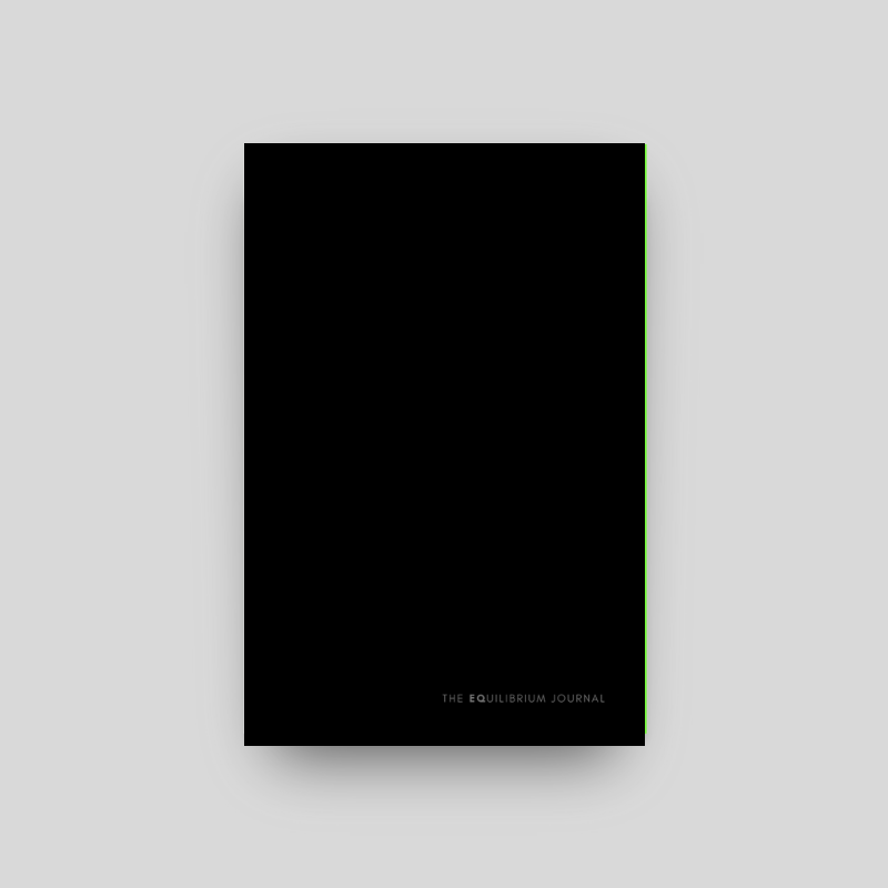 The Equilibrium Journal, Black | $28