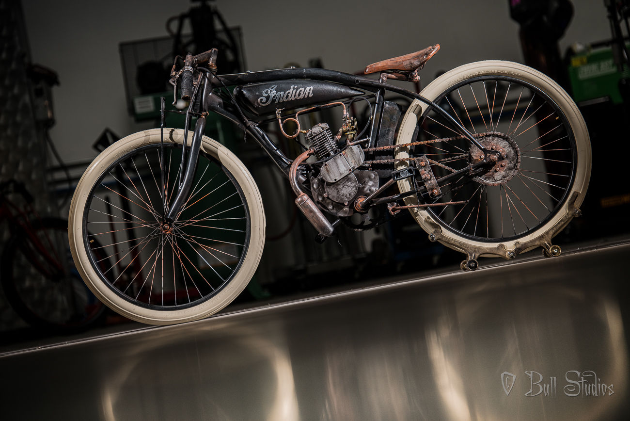 Black Indian Board Track Racer Tribute Bike