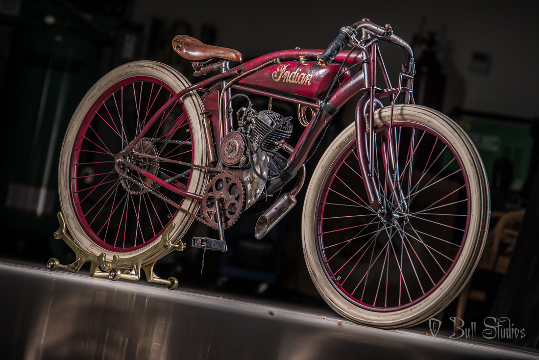 Burgundy     Indian Board Track Racer Tribute Bike