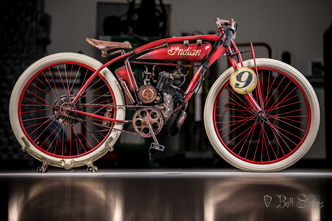 Red Indian Board Track Racer Tribute Bike