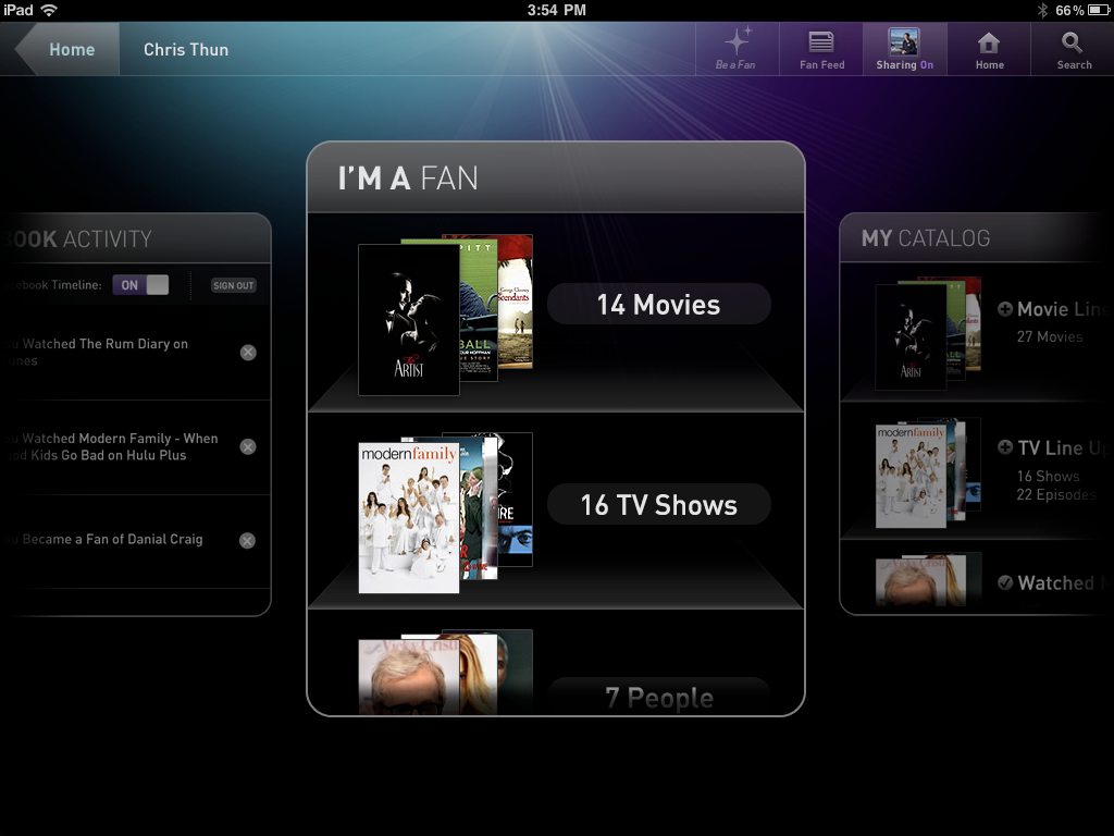 Profile Bookmarking Concept for Movies, Shows and Actors